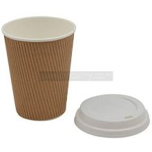 12 12oz Ripple Coffee Cups with Lids