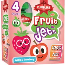 Rumplers Fruit Jet Apple & Strawberry Pouches