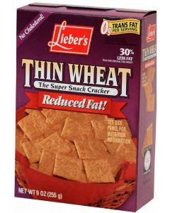 Liebers Reduced Fat Thin Wheat Snacks