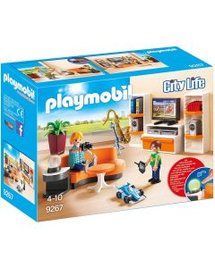 Playmobile Living Room with Working Lights (9267)